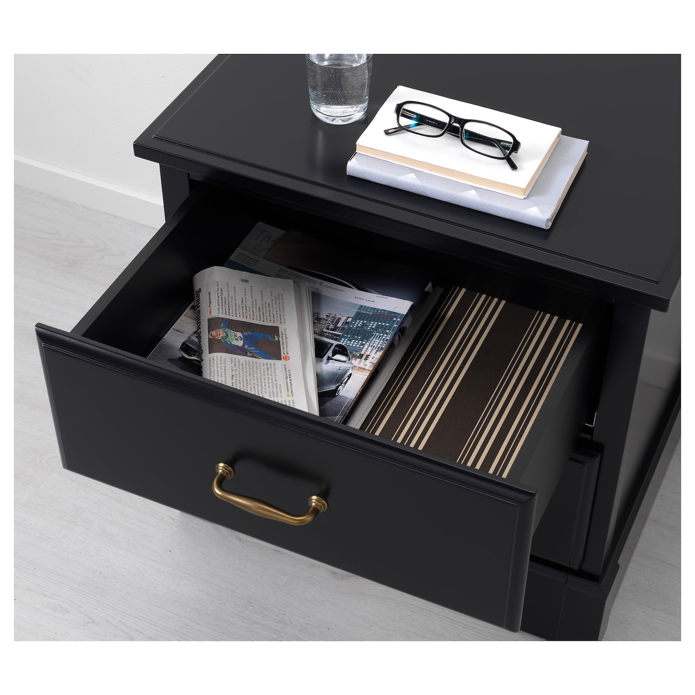 Undredal Chest Of 2 Drawers Black 57x60 Cm Ikea