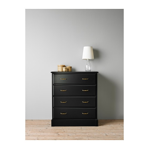 undredal chest of 4 drawers black 87x101 cm ikea. Black Bedroom Furniture Sets. Home Design Ideas
