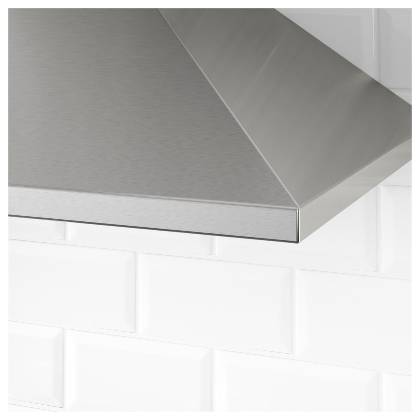 IKEA UPPDRAG wall mounted extractor hood Control panel placed at front for easy access and use.