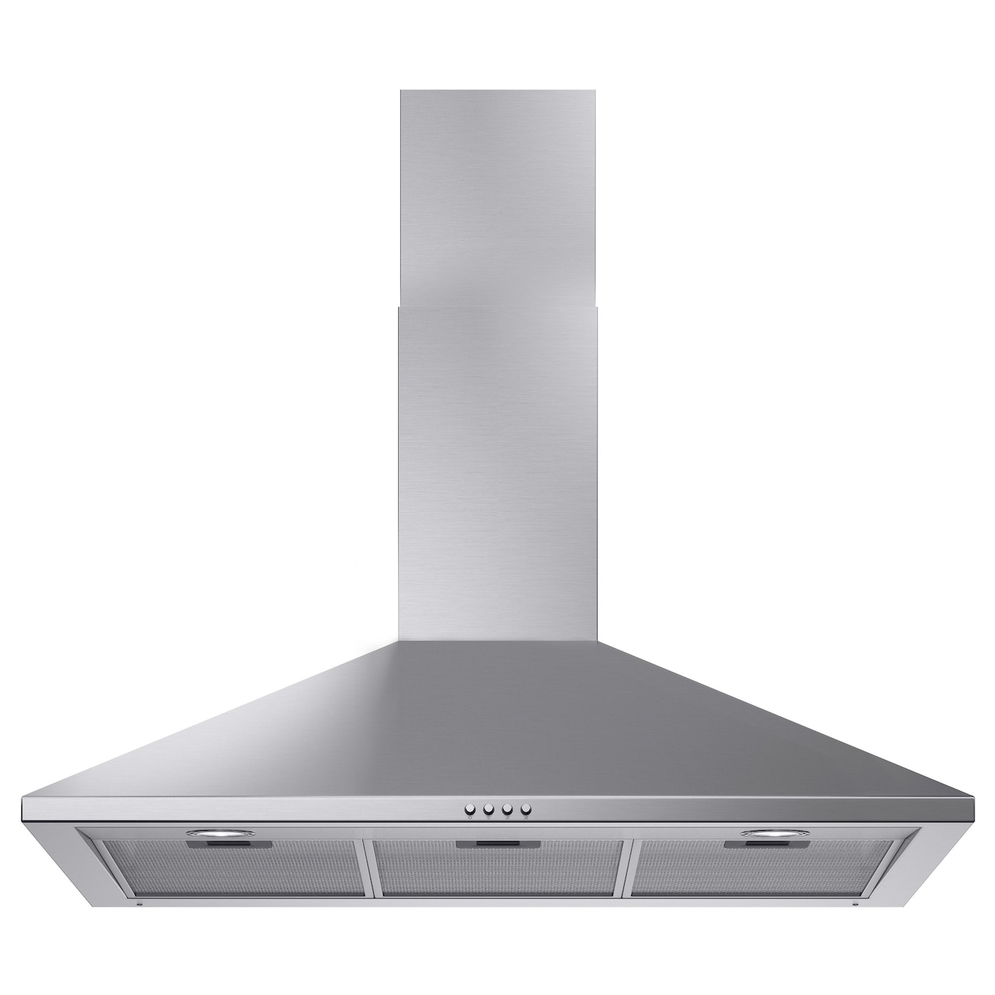 Uppdrag wall mounted extractor hood stainless steel 90 cm for Cappe da cucina ikea