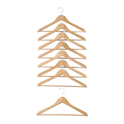 IKEA UPPIS hanger Ideal for hanging clothes. Solid wood is a hardwearing natural material.
