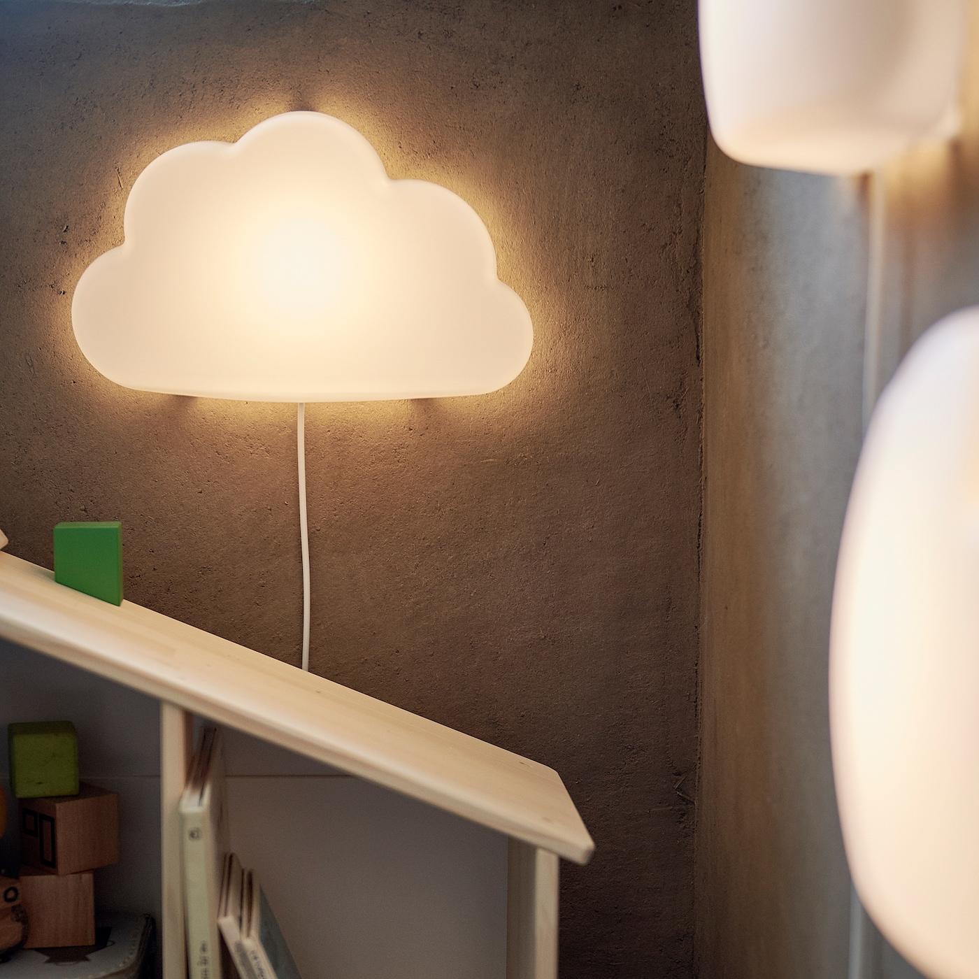 Upplyst Cloud White Led Wall Lamp Ikea