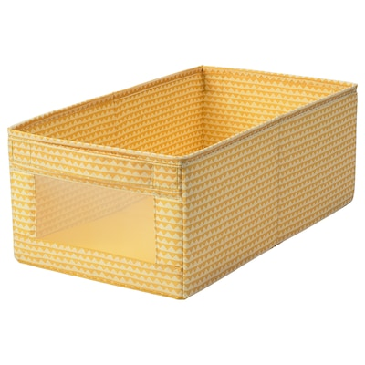 UPPRYMD Box, yellow, 25x44x17 cm