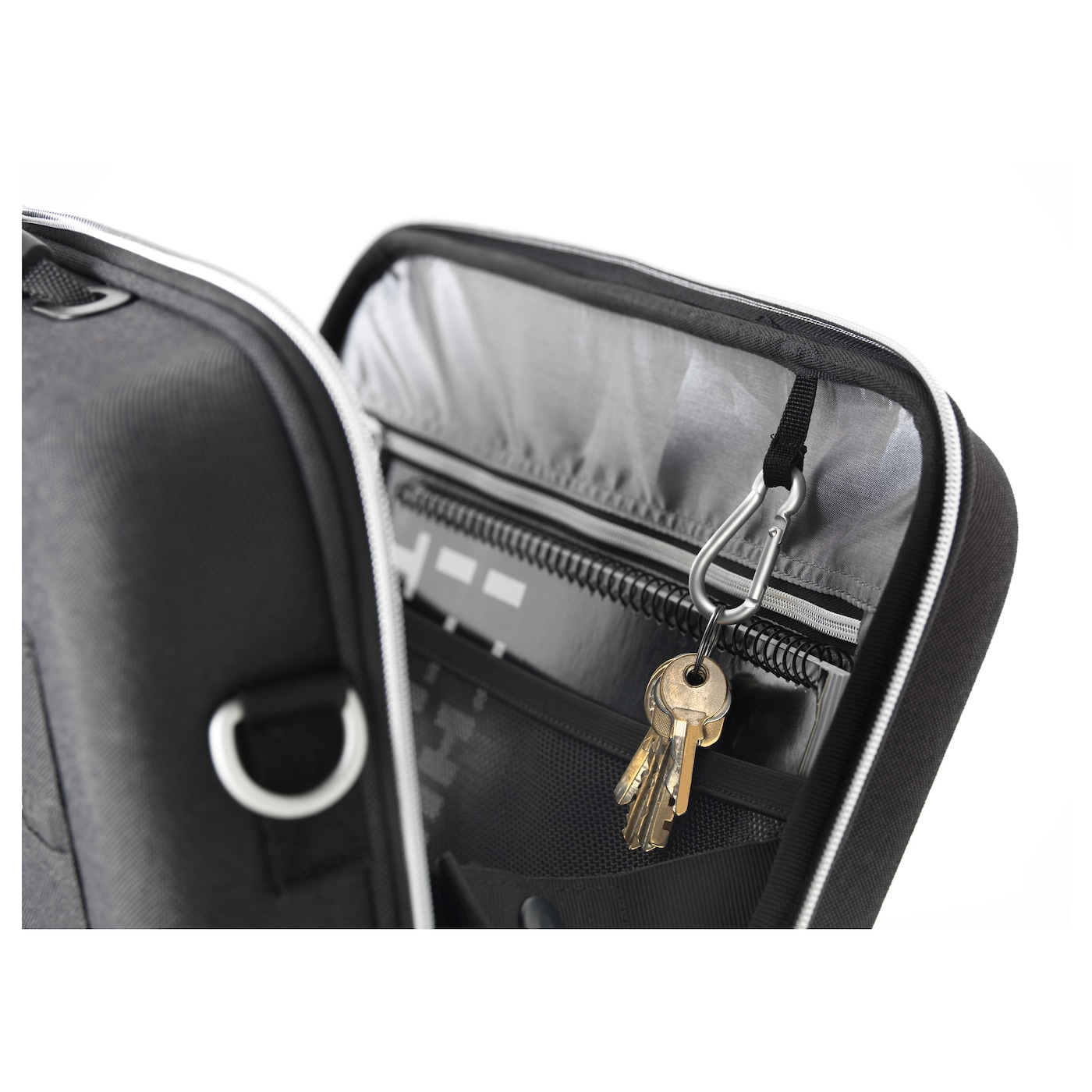 IKEA UPPTÄCKA briefcase Extra protection for your laptop in a separate padded compartment.