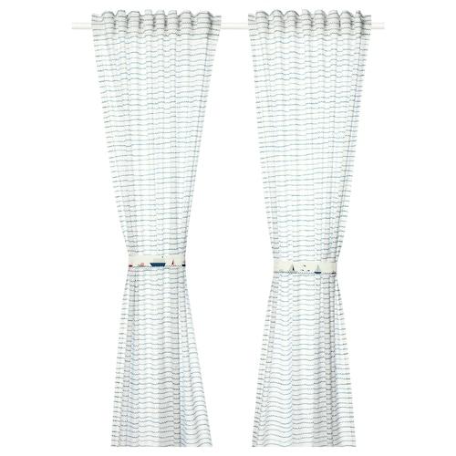 IKEA UPPTÅG Curtains with tie-backs, 1 pair