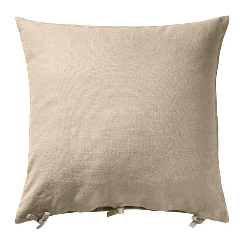 URSULA Cushion cover IKEA The cushion cover is made of ramie, a hard-wearing natural material with slightly irregular texture.