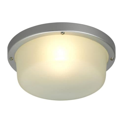 UTÅS Ceiling/wall lamp IKEA Frosted cover glass for glare-free light.  For outdoor use; is protected against moisture and water.