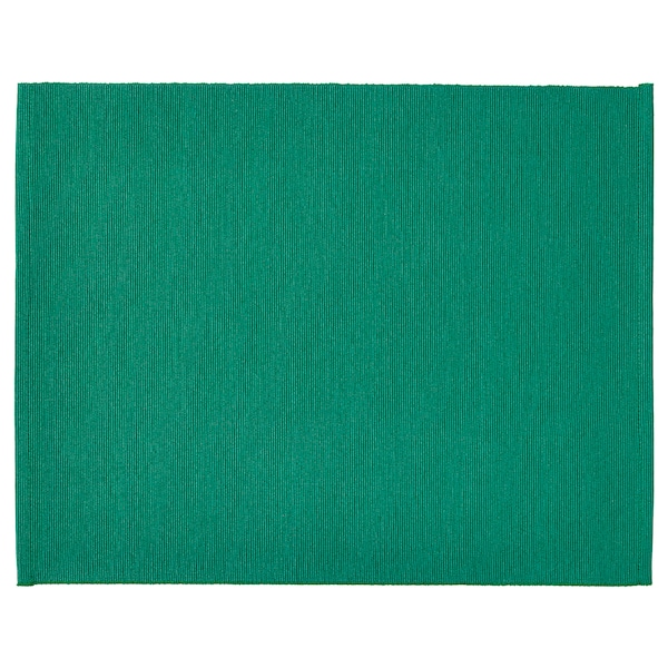 UTBYTT Place mat, dark green, 35x45 cm