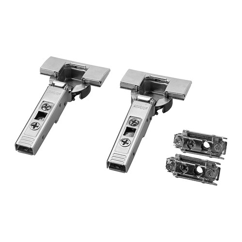 UTRUSTA Hinge IKEA 25 year guarantee.   Read about the terms in the guarantee brochure.  125 degrees opening angle for easy access.