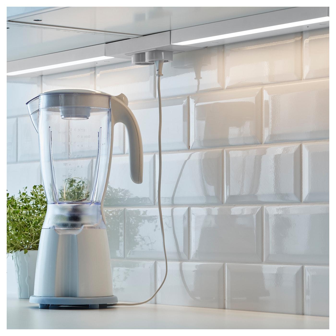 utrusta led worktop lighting w power supply aluminium colour 40 cm ikea. Black Bedroom Furniture Sets. Home Design Ideas