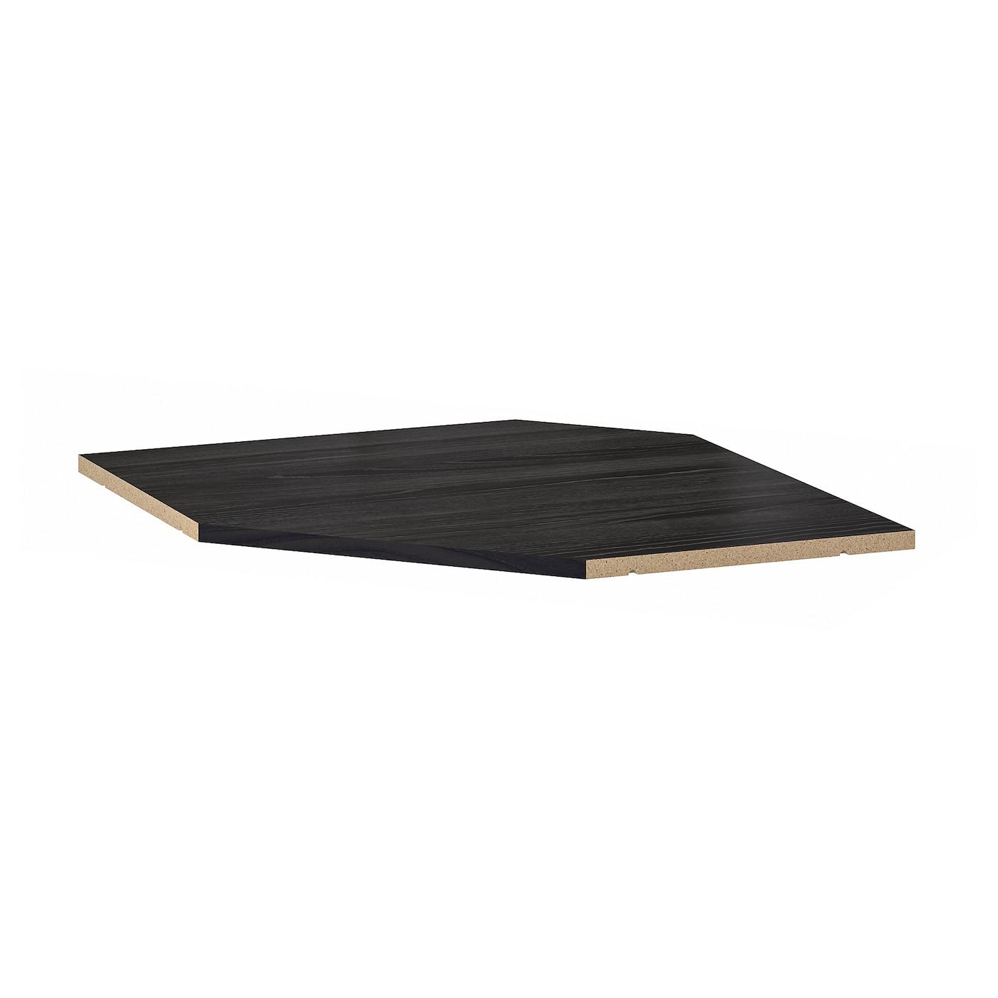 Metod Corner Wall Cabinet Frame Wood Effect Black 68 X 68