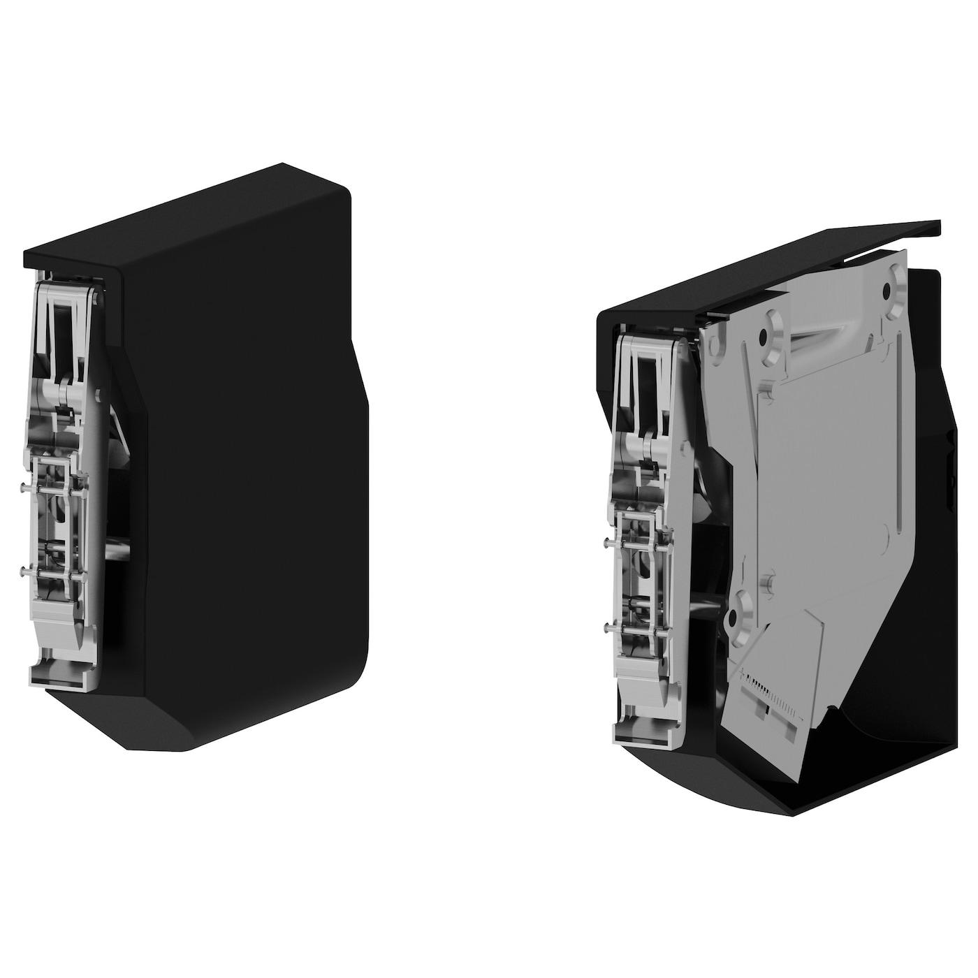 utrusta small hinge for horizontal door black ikea. Black Bedroom Furniture Sets. Home Design Ideas