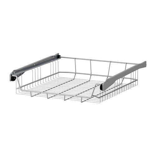 UTRUSTA Wire basket IKEA Smooth-running wire baskets with pull-out stop.  Low front edge for easy loading and unloading.