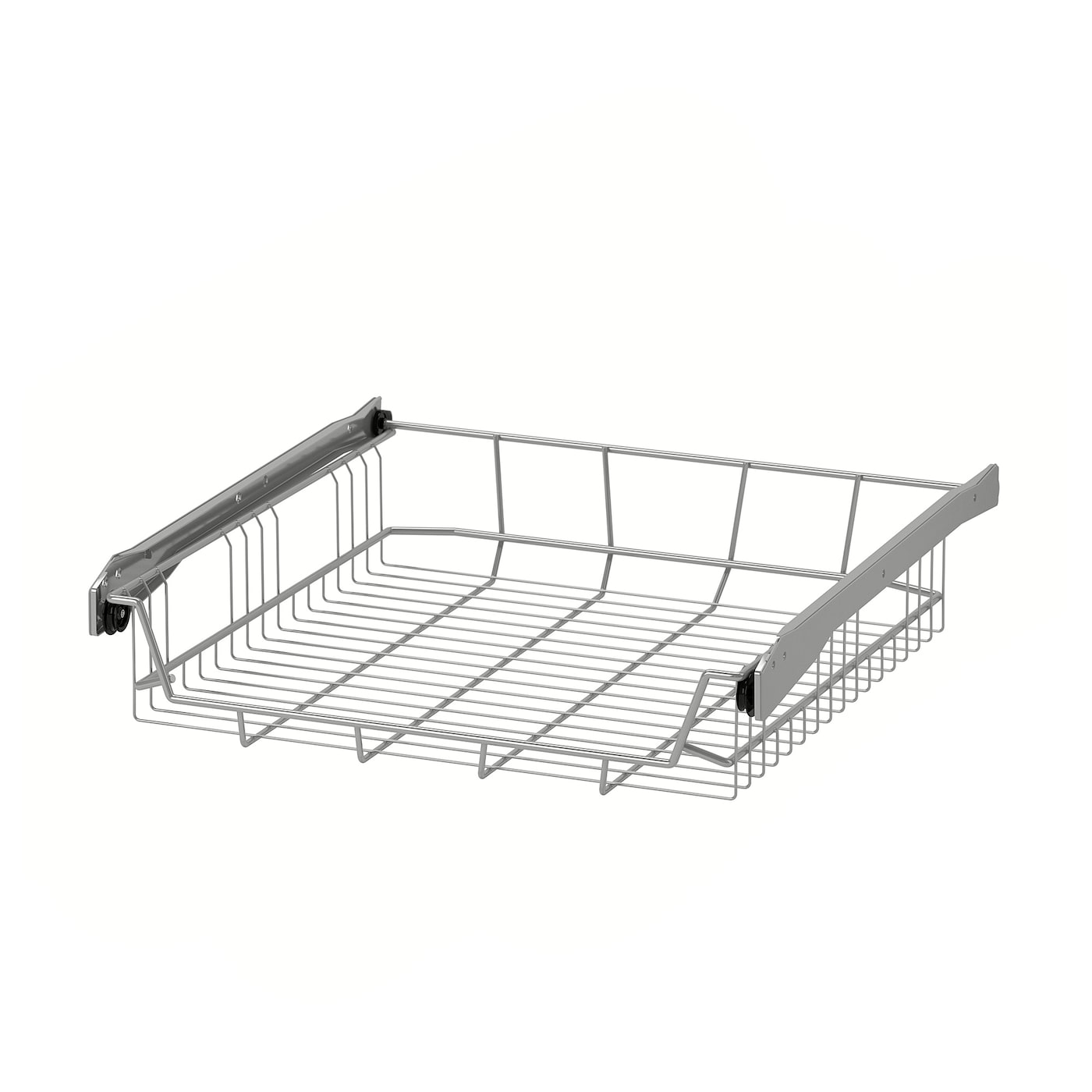 IKEA UTRUSTA wire basket Smooth-running wire baskets with pull-out stop.