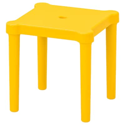 UTTER Children's stool, in/outdoor/yellow