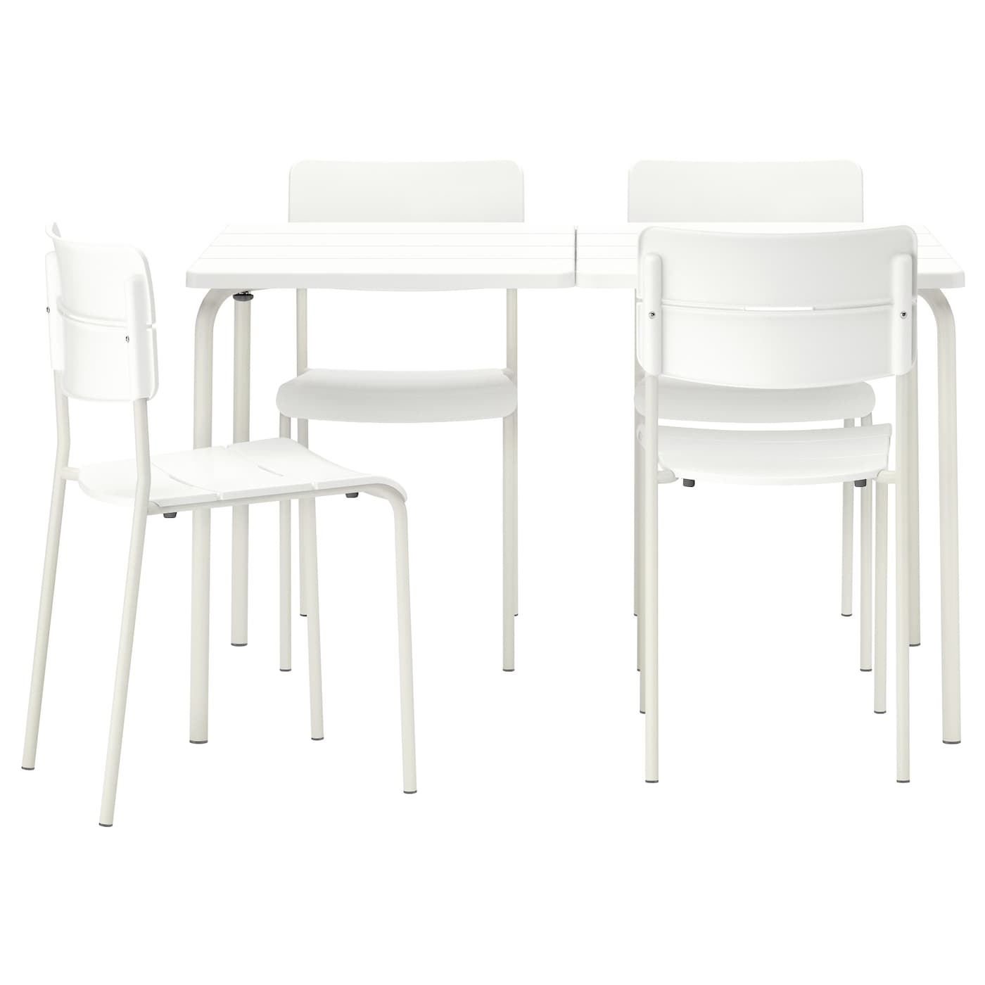 IKEA VÄDDÖ table+4 chairs, outdoor Easy to keep clean – just wipe with a damp cloth.