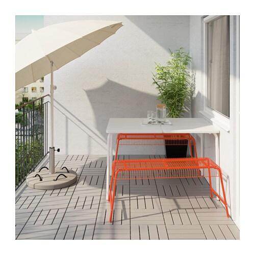 v dd v ster n table 2 benches outdoor white orange ikea