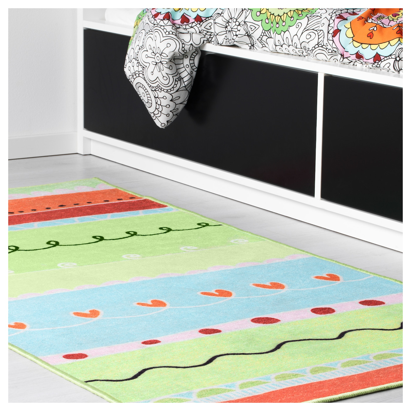 IKEA VÄNSKAPLIG Rug The Rubber Backing Keeps The Rug In Place When The  Child Runs/