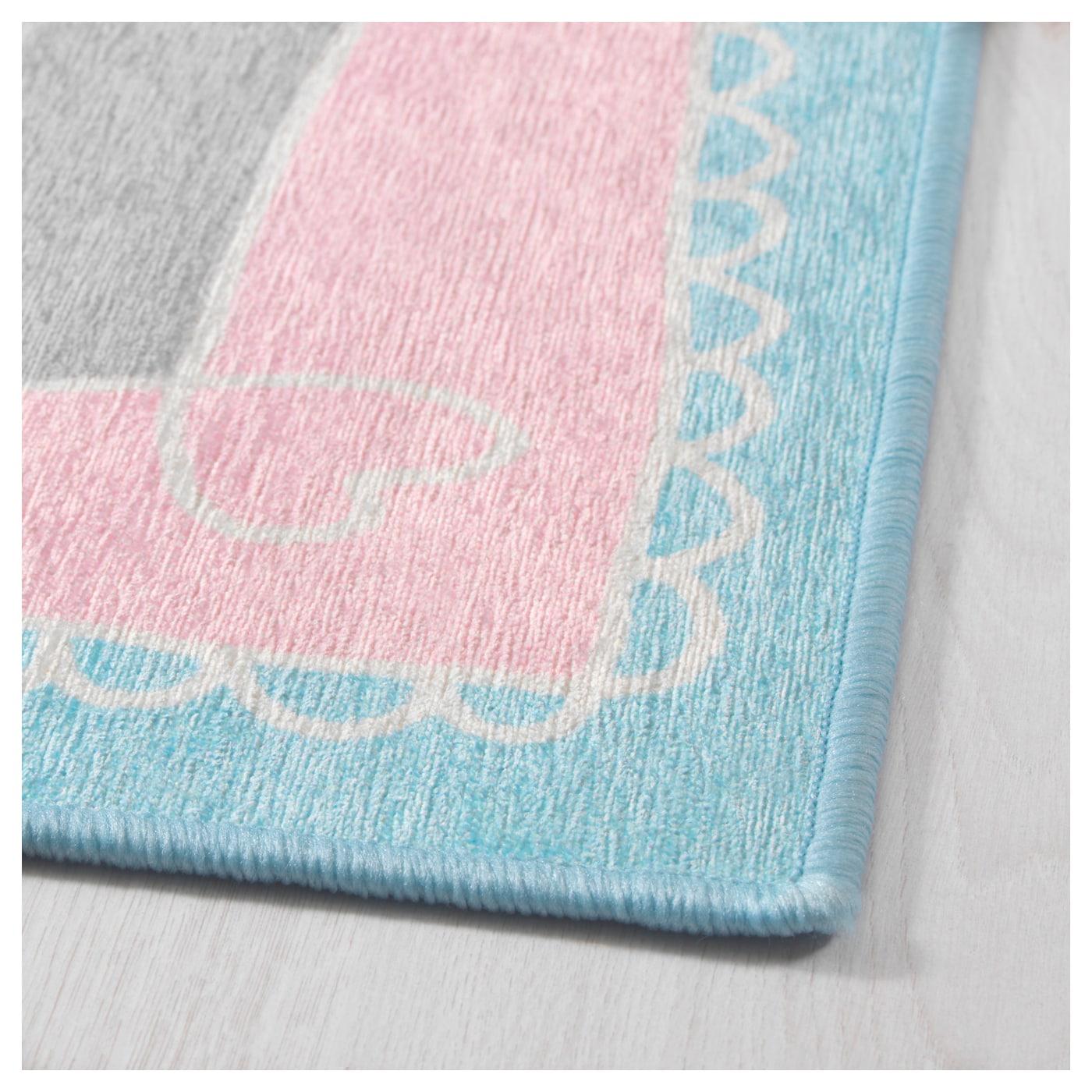 v nskaplig rug pink turquoise 133x133 cm ikea
