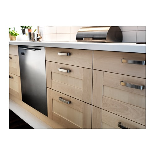 v rde handle nickel plated 135 mm ikea. Black Bedroom Furniture Sets. Home Design Ideas