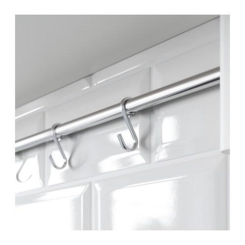 v rde wall shelf with 5 hooks white 140x50 cm ikea. Black Bedroom Furniture Sets. Home Design Ideas