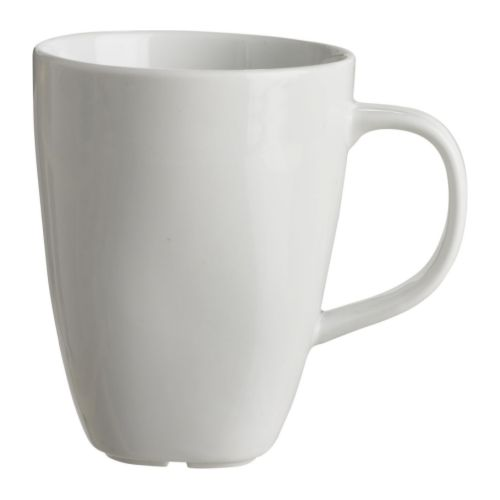 IKEA VÄRDERA mug Made of feldspar porcelain, which makes the mug impact resistant and durable.