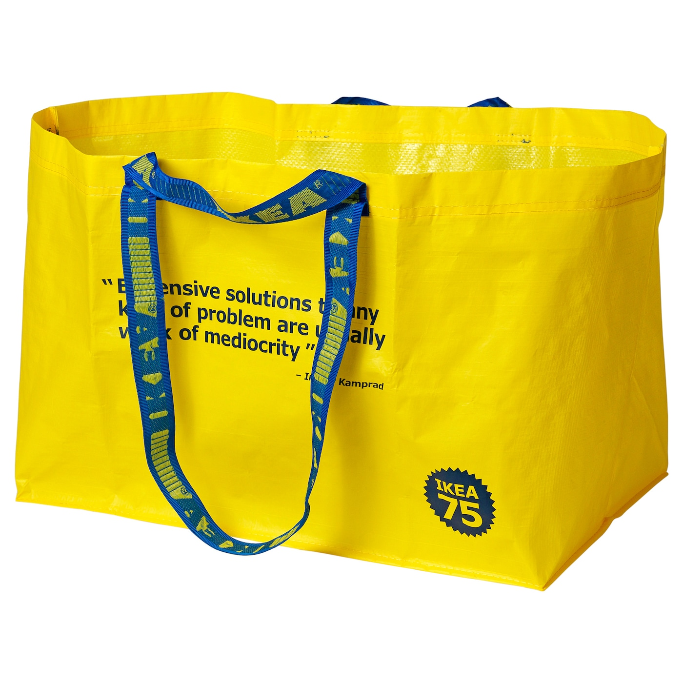 IKEA VÄRLDSBRA carrier bag, large Easy to keep clean – just rinse and dry.