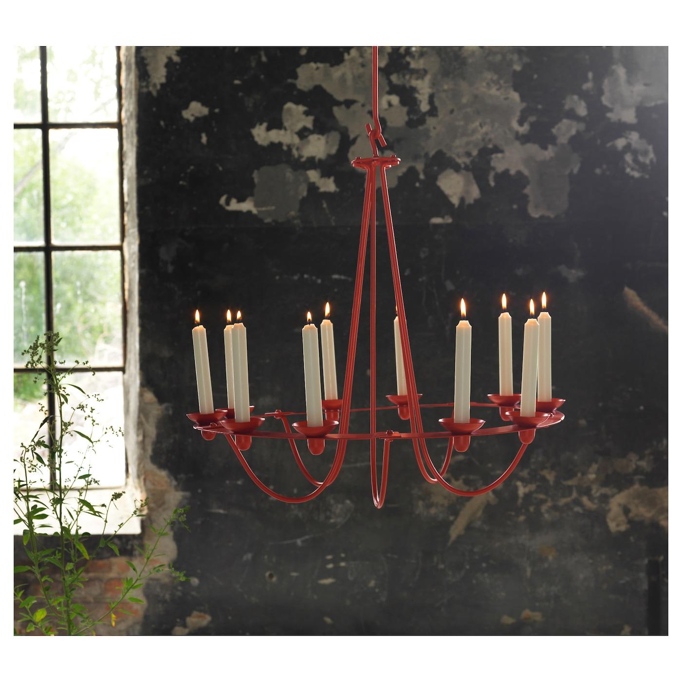 Ikea Red Chandelier: VÄSSAD Chandelier For 10 Candles Dark Grey