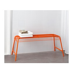 V ster n bench in outdoor orange ikea for Banc exterieur ikea
