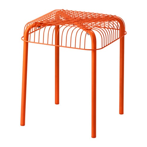 IKEA VÄSTERÖN stool, in/outdoor Can be stacked, which helps you save space.
