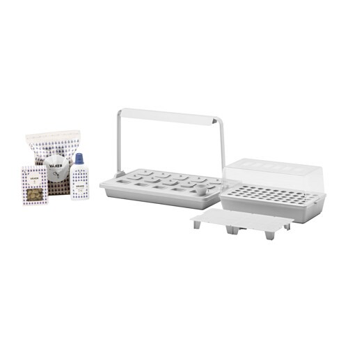 IKEA VÄXER grow kit w 15 pots/light fixture
