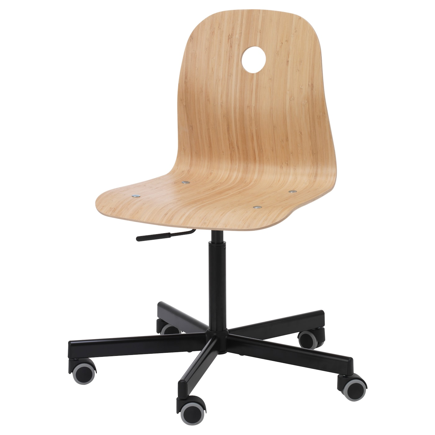 ikea swivel chair you sit comfortably since the chair is adjustable in height