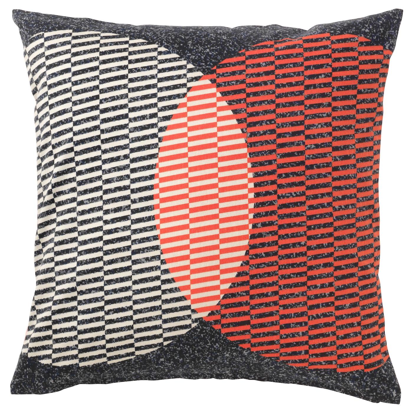 V 197 Rl 214 K Cushion Cover Orange Black 50x50 Cm Ikea