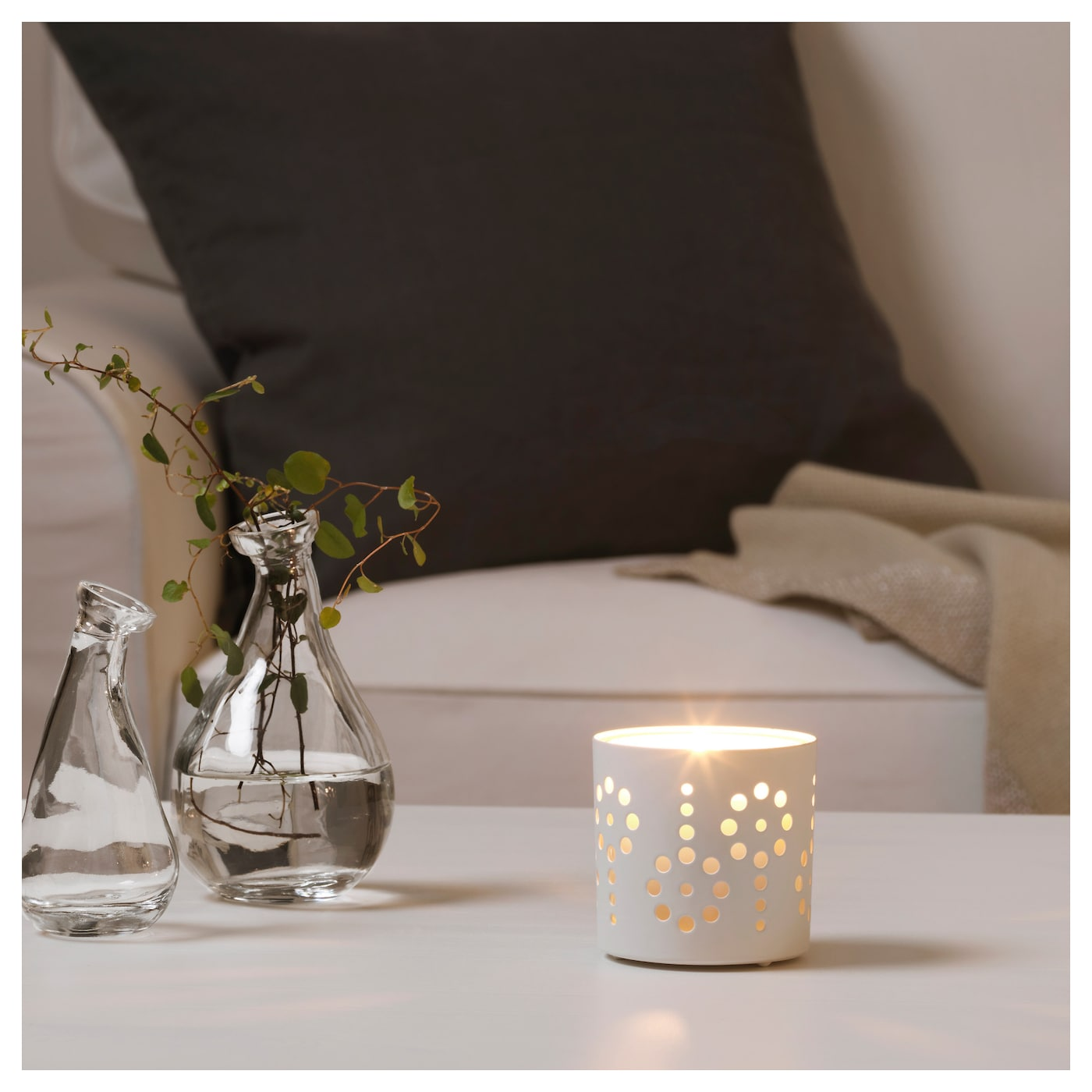 IKEA VACKERT decoration for candle in glass The decoration can also be used with tealights.