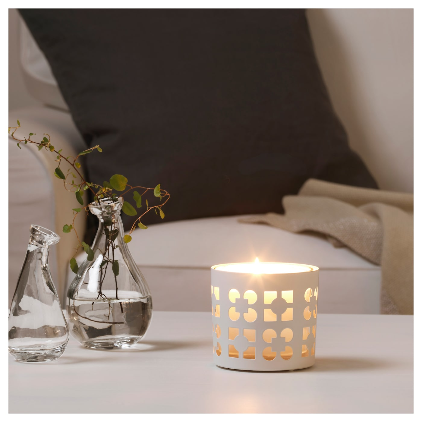 IKEA VACKERT decoration for candle in glass The decoration can also be used with large tealights.