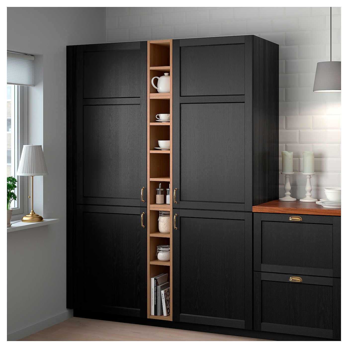 Ikea Vadholma Open Storage Makes The Contents Of Cabinet Easy To Overview And Access
