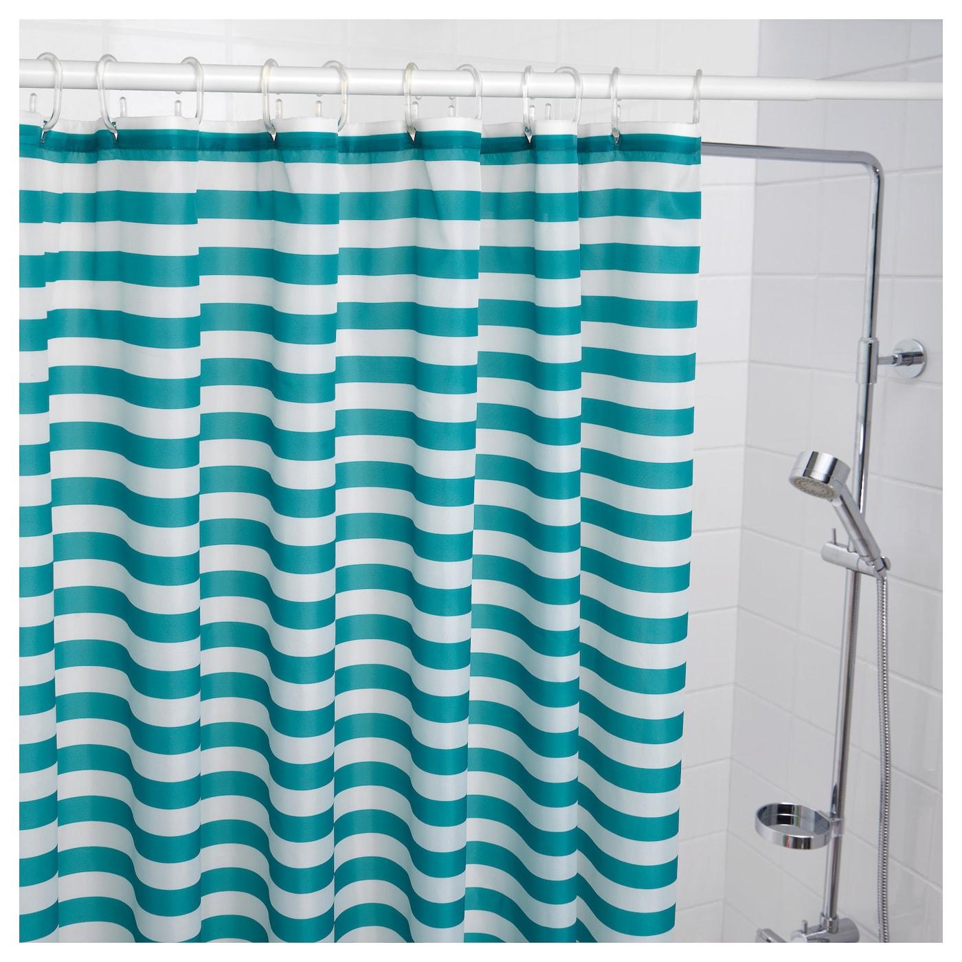 VADSJÖN Shower curtain Turquoise 180x180 cm - IKEA