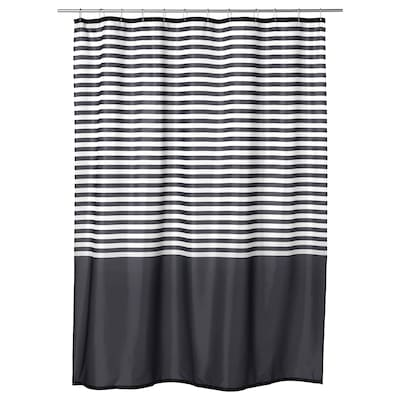 VADSJÖN Shower curtain, dark grey, 180x180 cm