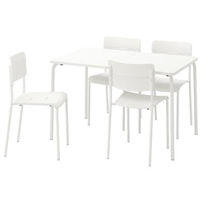 VÄDDÖ Table+4 chairs, outdoor, white
