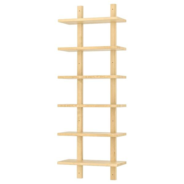 VÄRDE Wall shelf, birch, 50x140 cm