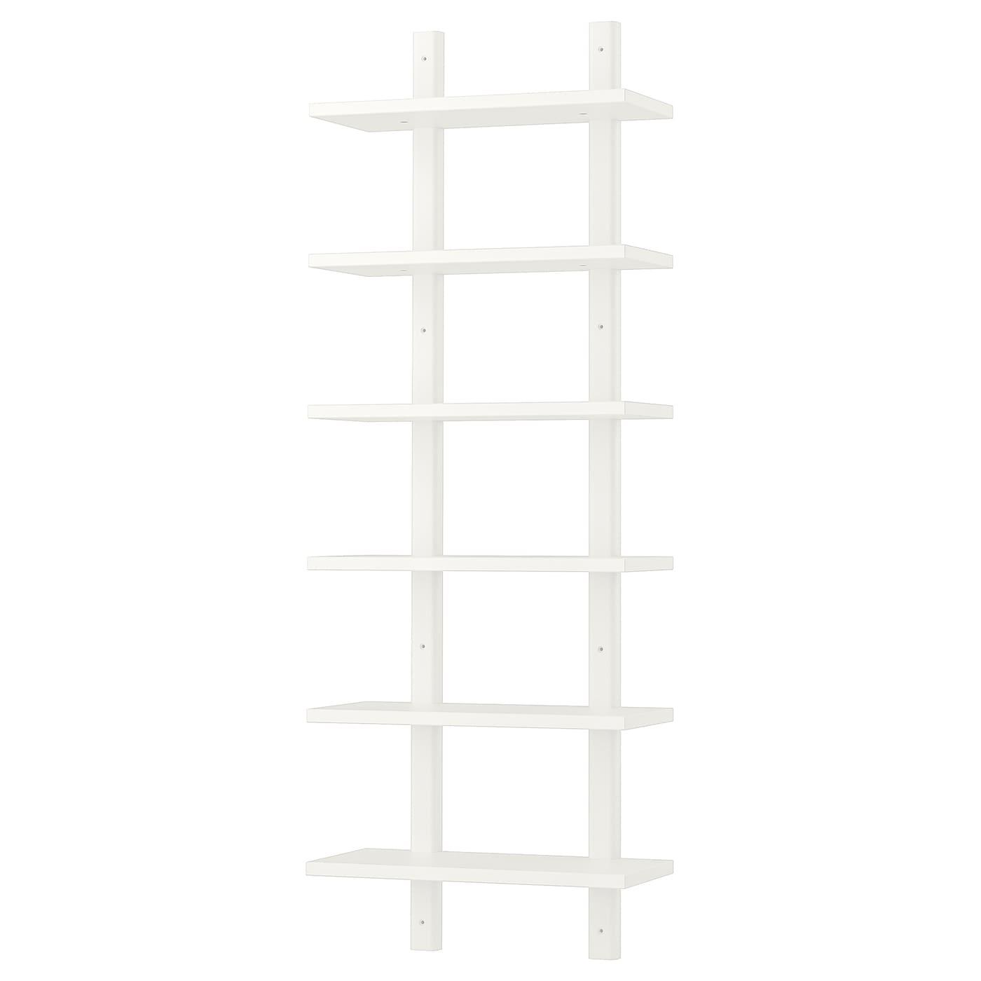 Image of: Varde White Wall Shelf 50×140 Cm Ikea