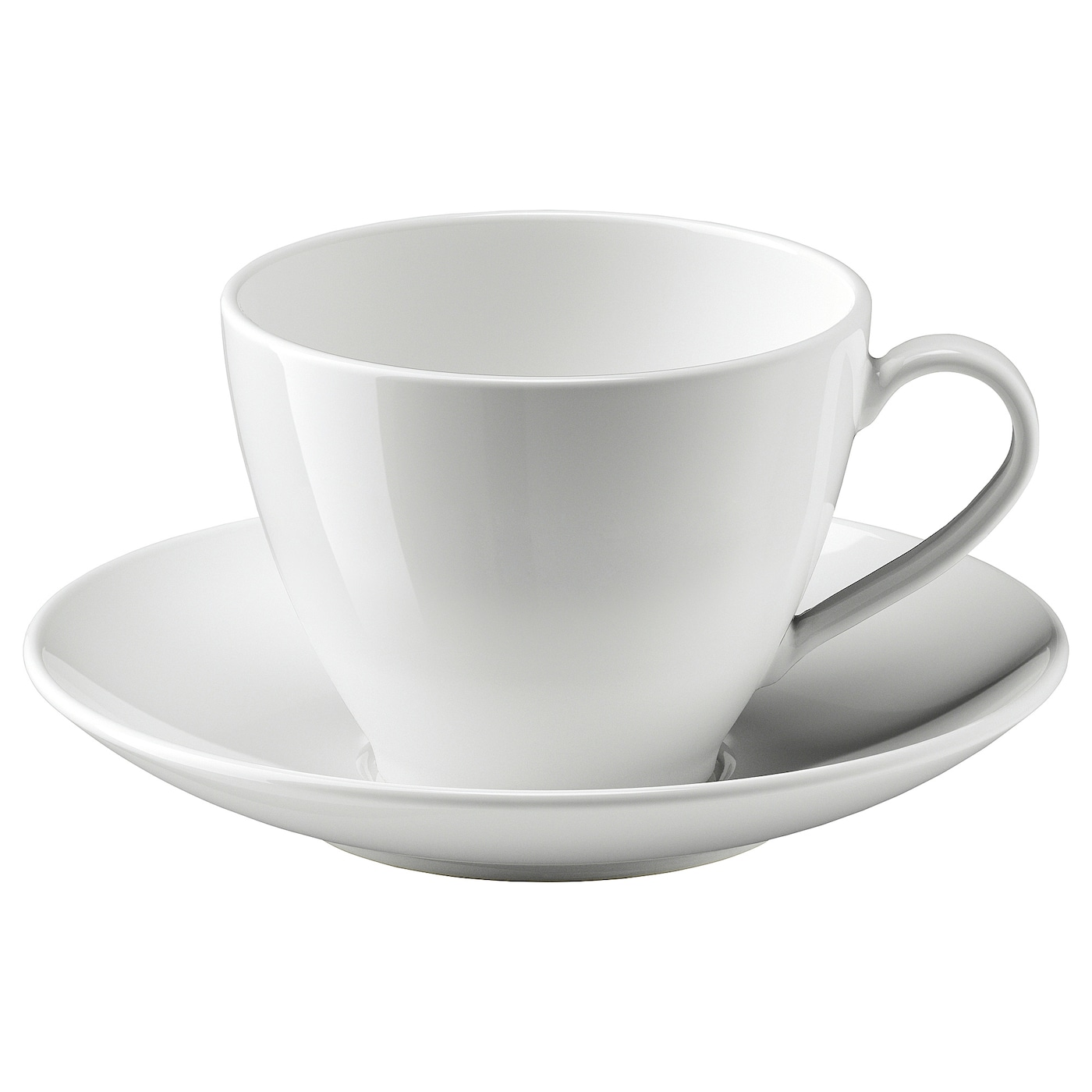 Vardera White Teacup With Saucer Ikea
