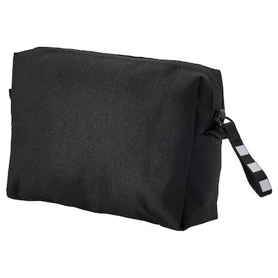 VÄRLDENS Accessory bag, black, 16x4x11 cm