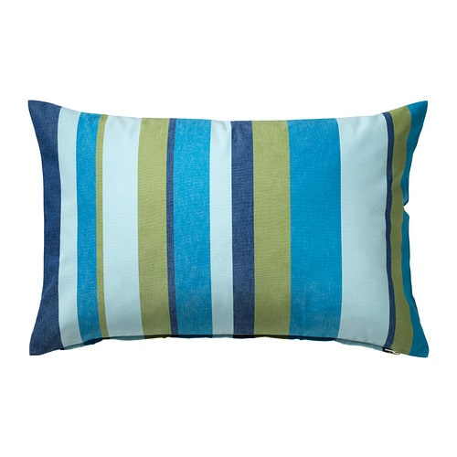 VALBORG Cushion cover IKEA Zip; cover is easy to remove for washing.  Yarn-dyed; the colours are retained wash after wash.