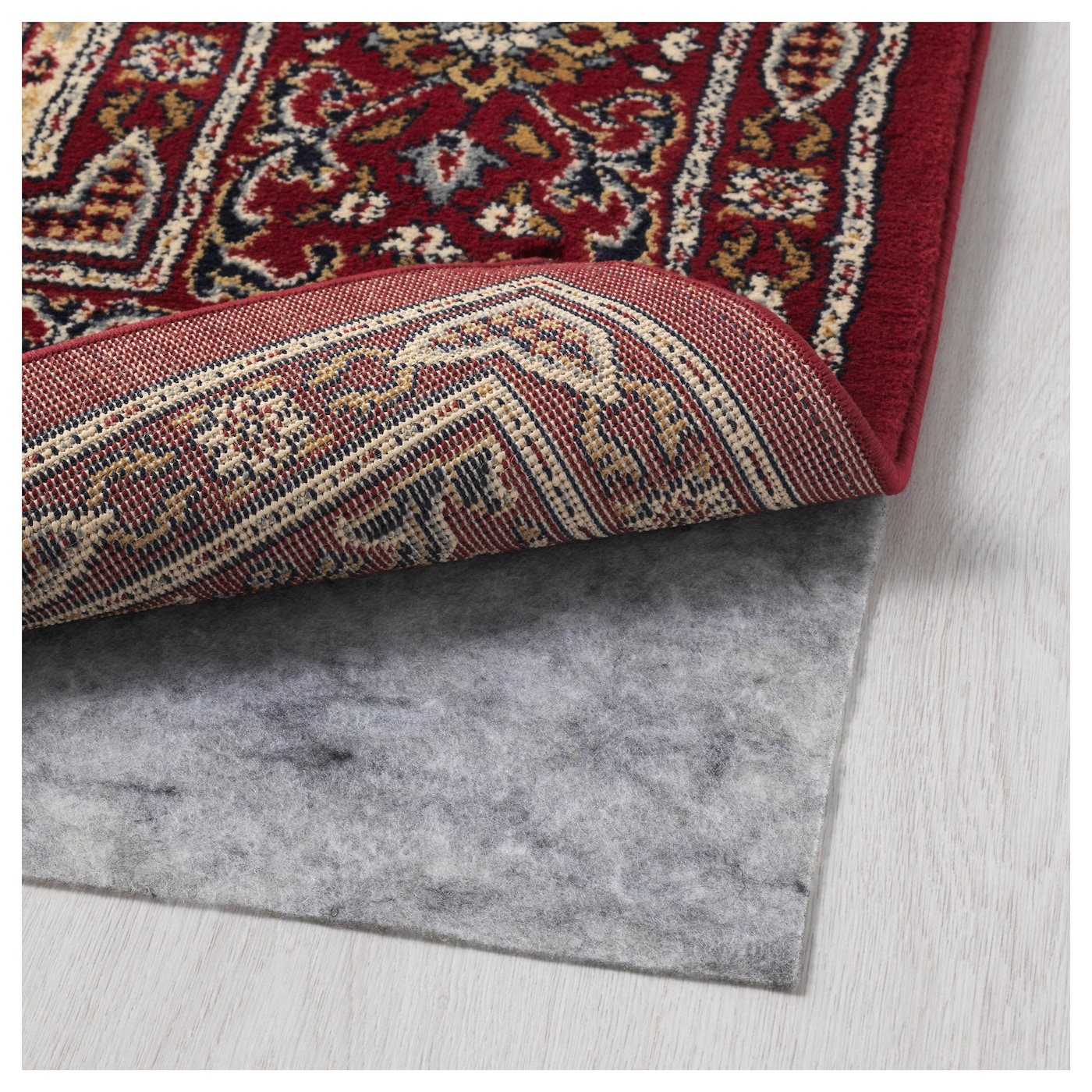 IKEA VALBY RUTA rug, low pile The thick pile dampens sound and provides a soft surface to walk on.