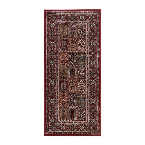 VALBY RUTA Rug, low pile IKEA Durable, stain resistant and easy to care for since the rug is made of synthetic fibres.
