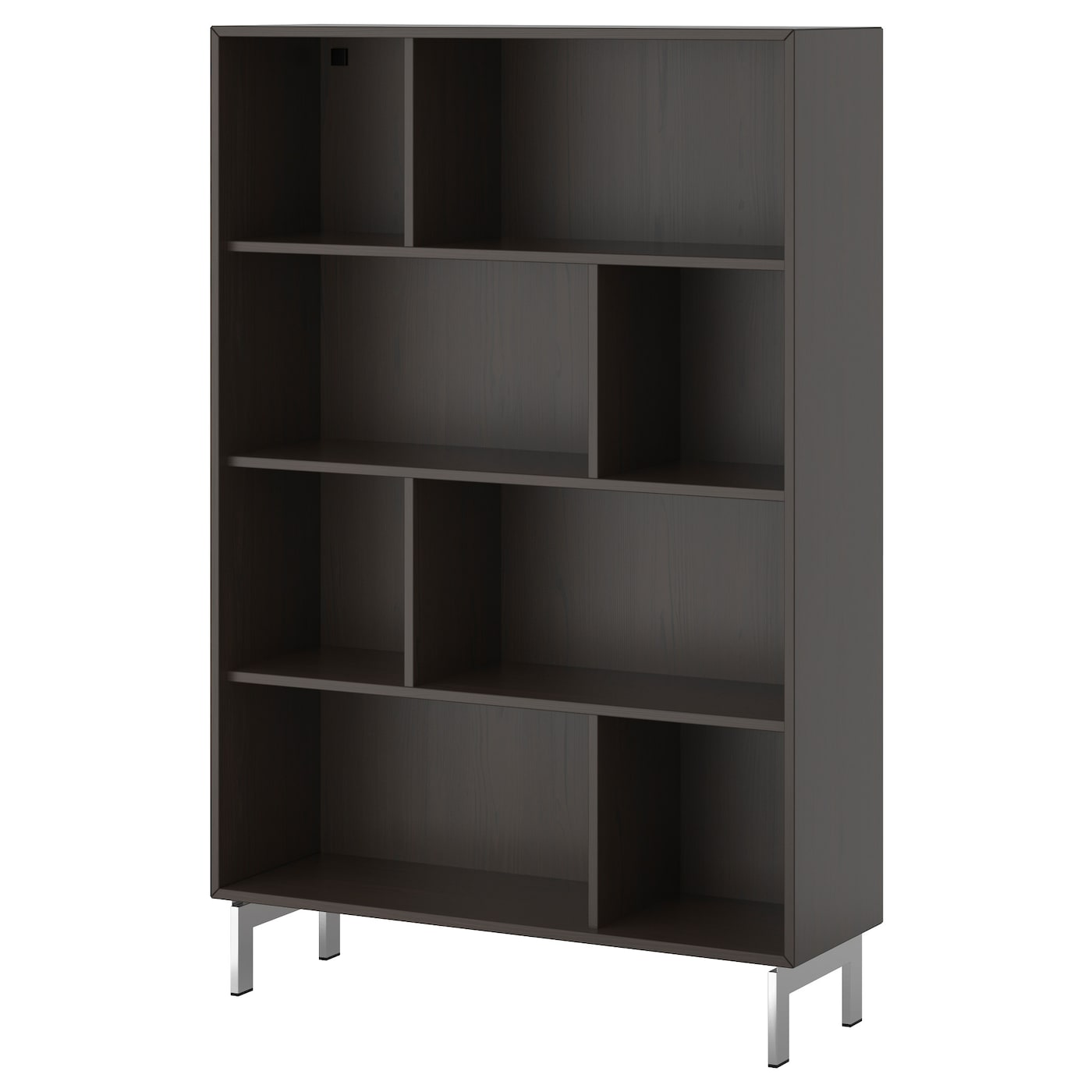 Valje shelf unit brown 100x150 cm ikea for Ikea box shelf unit