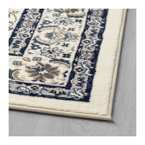 Vall by rug low pile beige blue 133x195 cm ikea for Teppich beige ikea