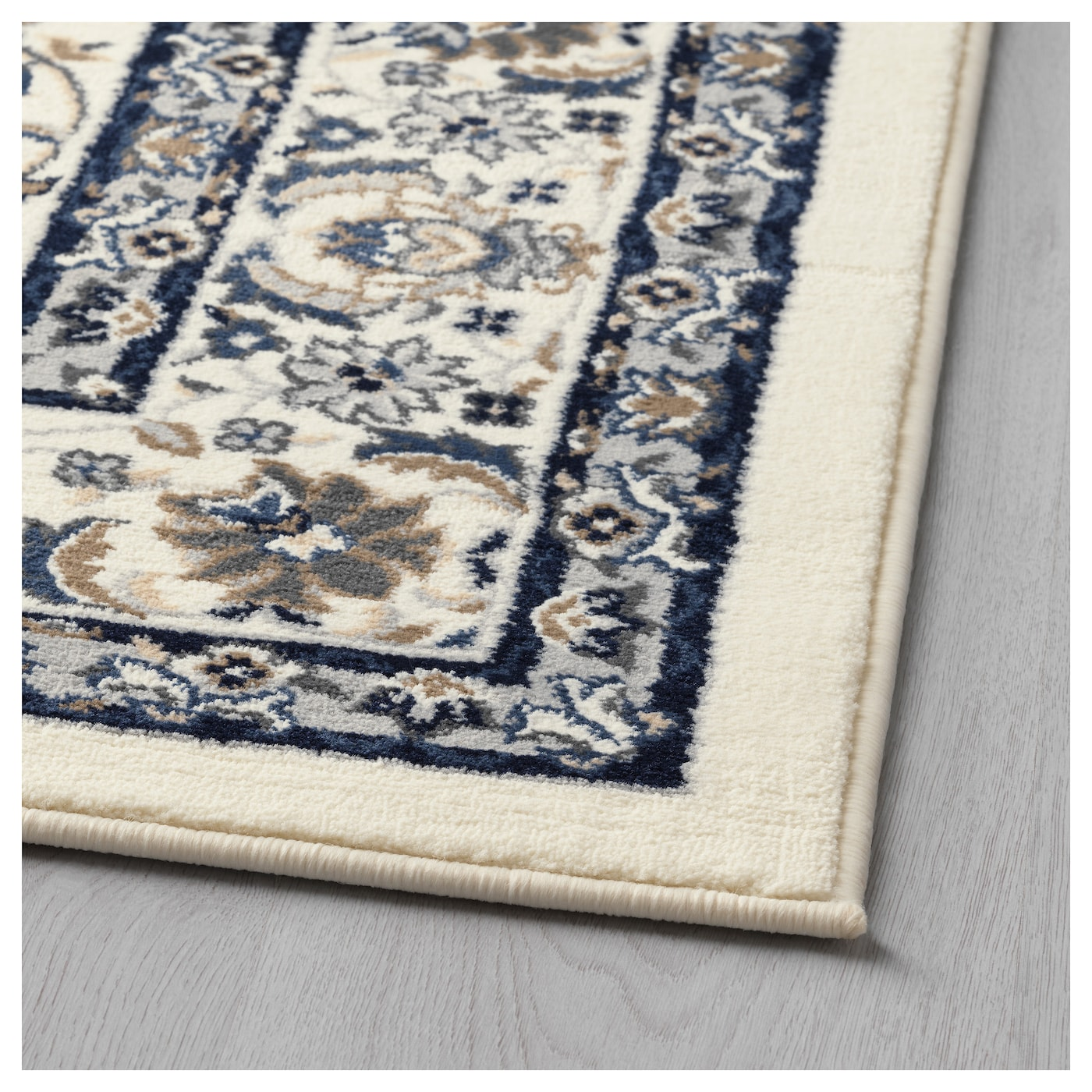 Vall 214 By Rug Low Pile Beige Blue 133 X 195 Cm Ikea
