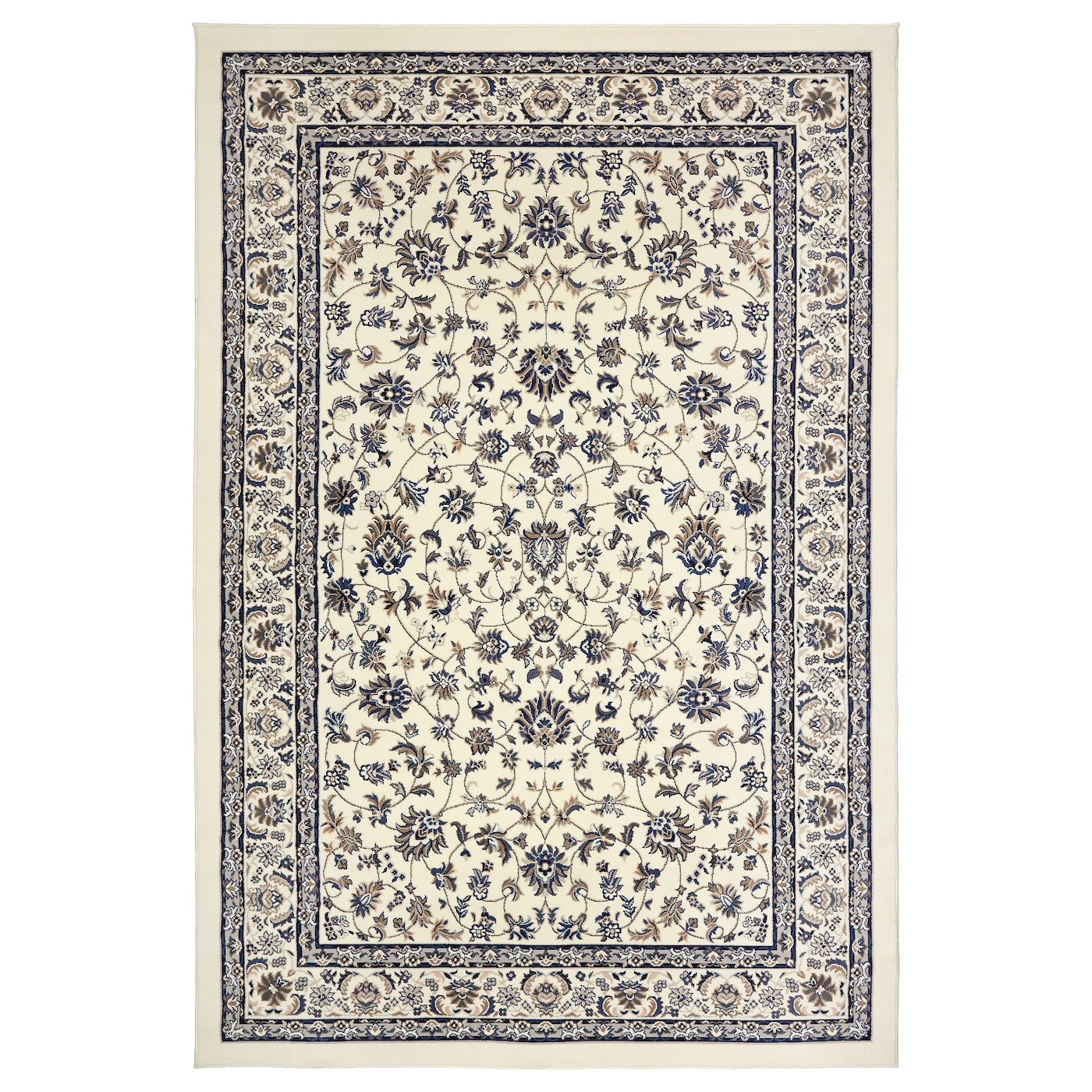 Vall 214 By Rug Low Pile Beige Blue 200 X 300 Cm Ikea